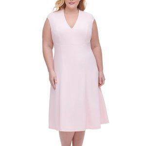 Tommy Hilfiger Plus Size Fit and Flare Midi Dress